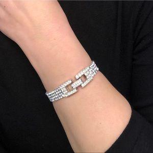 Swarovski four row clear crystal bracelet
